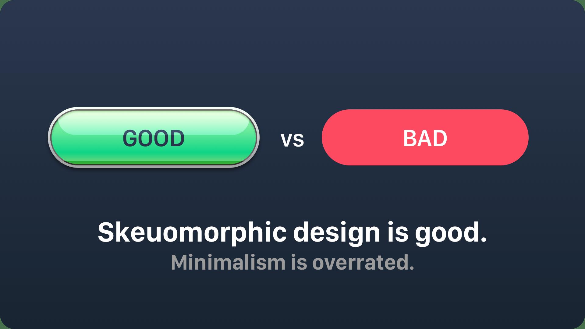 skeuomorphic-vs-minimalistic